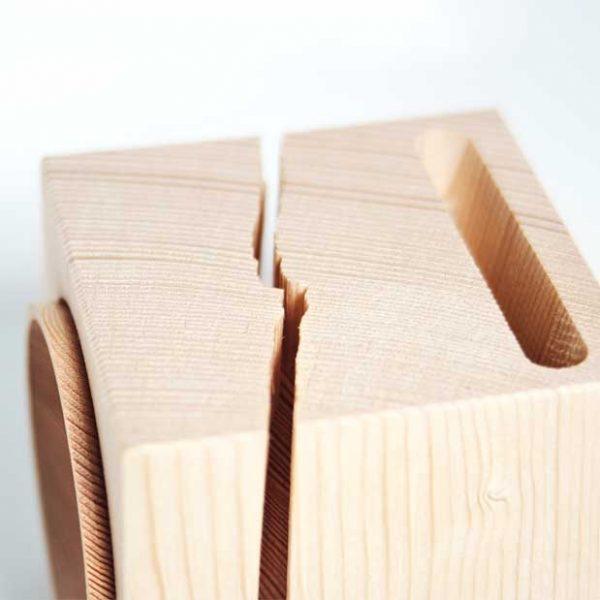 dettaglio prodotto vaia cube spaccatura legno